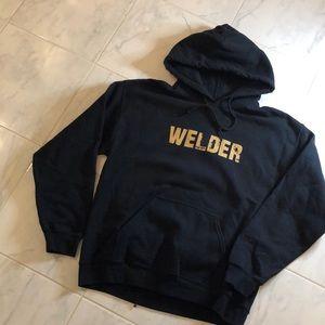 Welder black pullover hoodie. EUC!